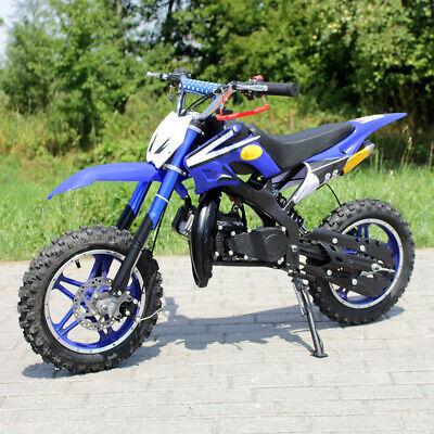 Minimoto Da Cross Da Bambino Delta Actionbikes 49 Cc A Due Tempi Colore Blu Moto Accessori E Componenti Ciclomotori E Quad