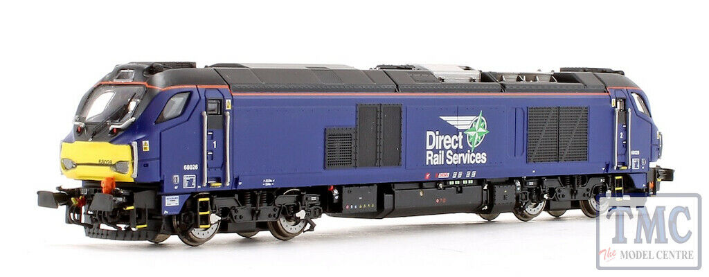 2D-022-010D Dapol N Gauge Class 68 026 DRS Plain bluee (DCC-Fitted)