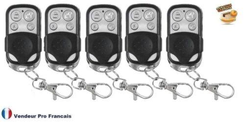 Lot 5X télécommande universelle COPIEUSE 433 MHZ Porte de Garage Portail Alarme