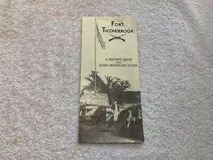 Vintage-1950s-Fort-Ticonderoga-Visitors-Guide-Lake-George-New-York