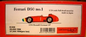 Model Factory Hiro 1 24 Ferrari D50 N º 1 1956 Completo Detail Metal Kit K-048