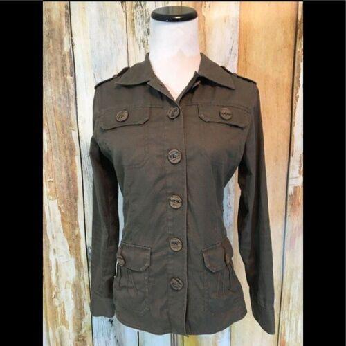 Military Jacket Olive Green Khaki Safari Linen