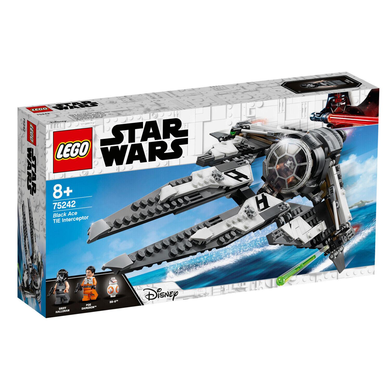 LEGO ® 20 anni Star 75242 TIE INTERCEPTOR alleanza-pilota droide bb-8