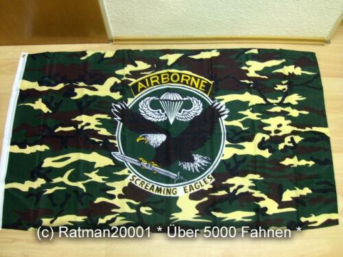 Fahnen Flagge Airborne Wappen Screaming Eagle 90 x 150 cm