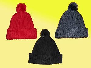 Berretto Donna caldo Invernale lavorato a maglia cappello palloncino spesso