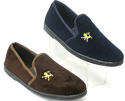 Men's Shoes Devoted Pour Hommes Pantoufles Lions Marron & Marine Ample Supply And Prompt Delivery