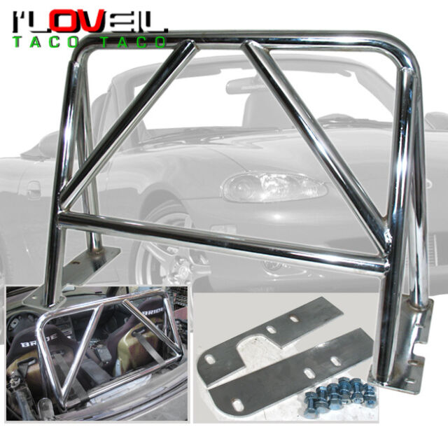 1989-2005 MAZDA MIATA MX5 MX-5 EUNOS STAINLESS STEEL SAFETY BRACE RACE ROLL CAGE