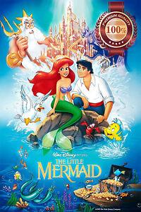 The Little Mermaid 1989 Classic Disney Cartoon Movie Print Premium Poster Ebay