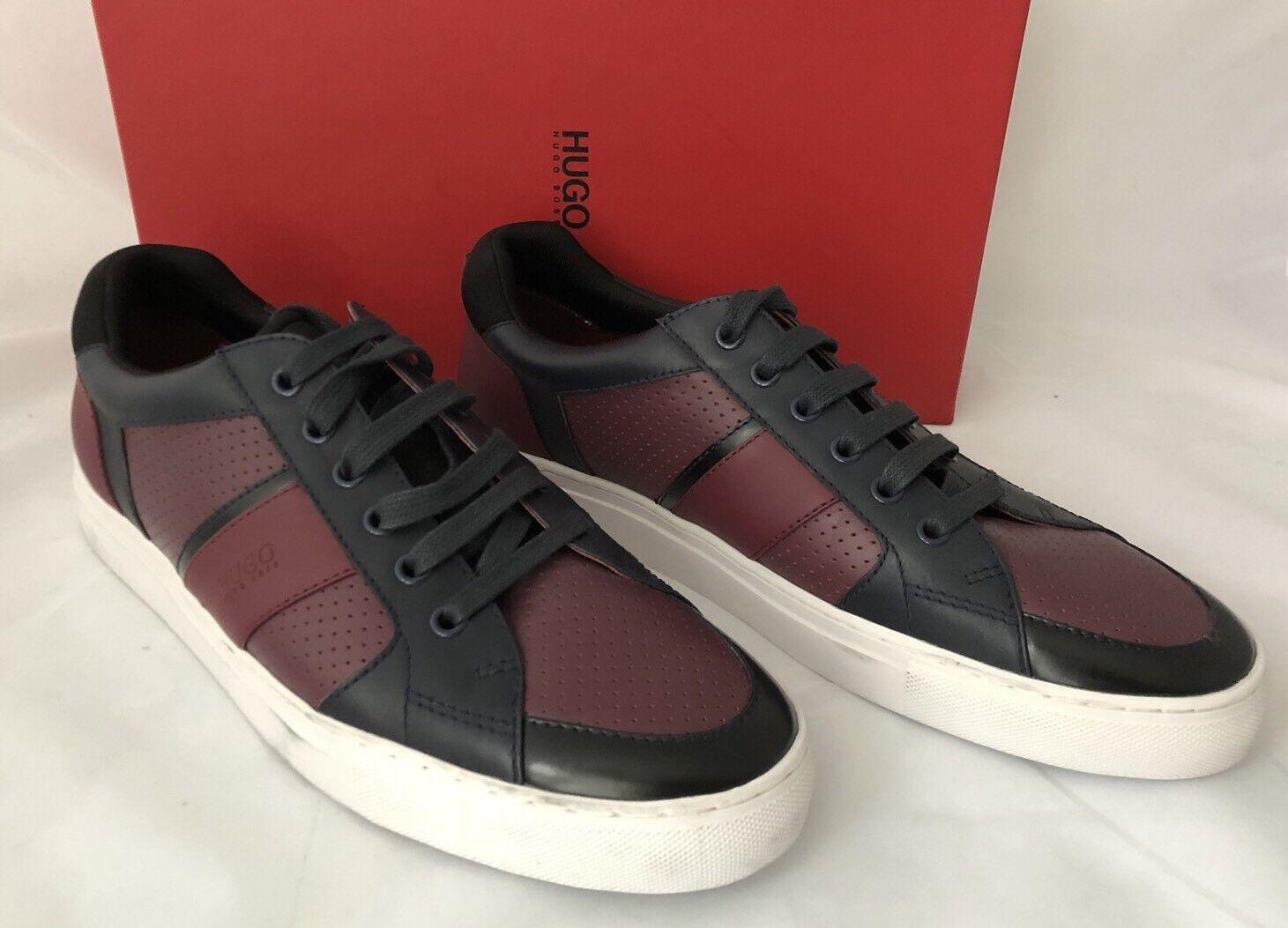 NIB $275 Boss Hugo Boss Fuster Men's Sneakers Dark Red 11 US