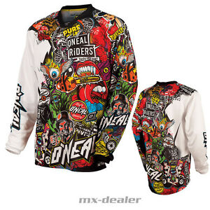 O-039-Neal-Mayhem-Crank-Wild-Multi-Jersey-Maglia-da-Ciclista-MX-MOTOCROSS-MTB-S-M-L