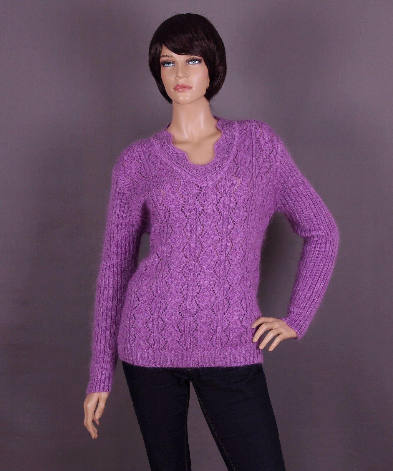 Mohair Damen Pullover, Farbe: flieder und Größe: L oder XL (nach Wahl)