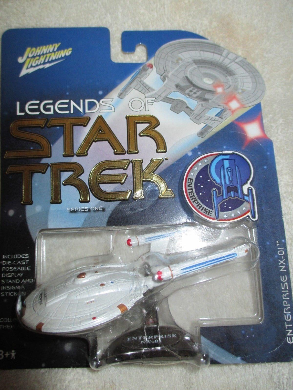 Johnny Lightning Legends Of Star Trek Rare Rare Rare White Lightning Enterprise NX-01 aa93f2
