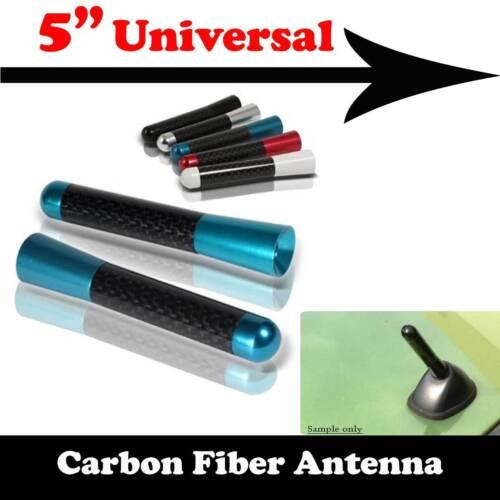"5/"" Stubby Carbon Fiber Aluminum Short Antenna Blue Screws For DODGE Auto Car"