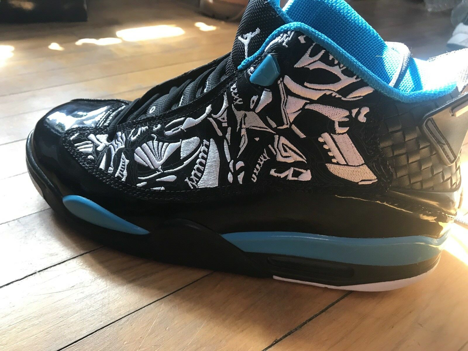 Air Jordan Dub Zero Size 10 Mens Laser Blue, White, Black