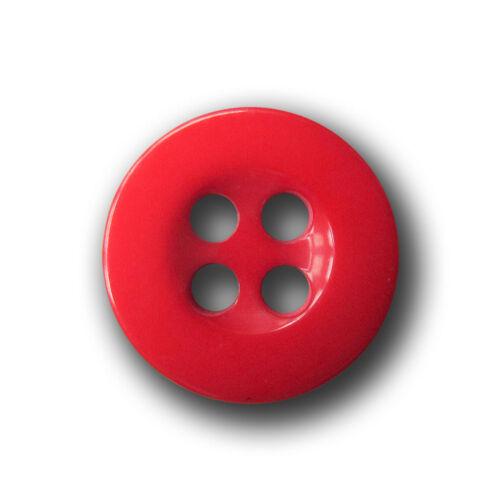 10 petits rouges vierloch plastique boutons pour chemisiers /& poupées 1074ro-11mm