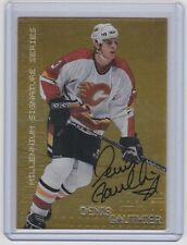 99-00 1999-00 BE A PLAYER MILLENNIUM DENIS GAUTHIER AUTOGRAPH GOLD 44 FLAMES