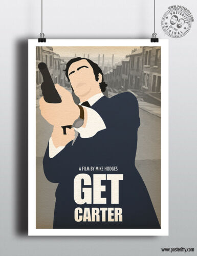 GET CARTER Minimal Film Posteritty Art Print Caine Minimalist Movie Poster