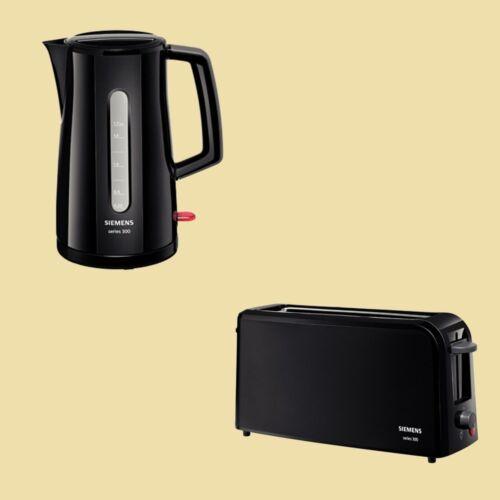 Toaster TT 3A0003 Siemens Set Series 300 Wasserkocher TW 3A0103 schwarz