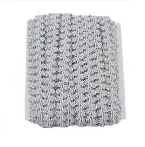 Dress Sewing Gold White /& Silver Braided Ribbon Lace Trim 1356 1M Black