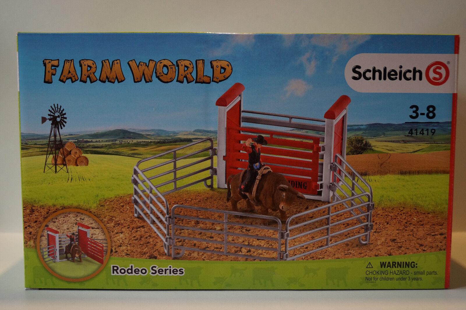 Spielset Bull riding mit CowboySchleich 41419Schleich Farm World Spielzeug Kleinkindspielzeug