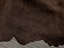 lambskin Suede leather hide Chocolate Brown w //Laser Cut Floral Fringed Edge 4sf