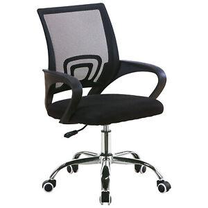 Chaise-de-Bureau-avec-Support-Lombaire-Fauteuil-Siege-Ergonomique-Noir