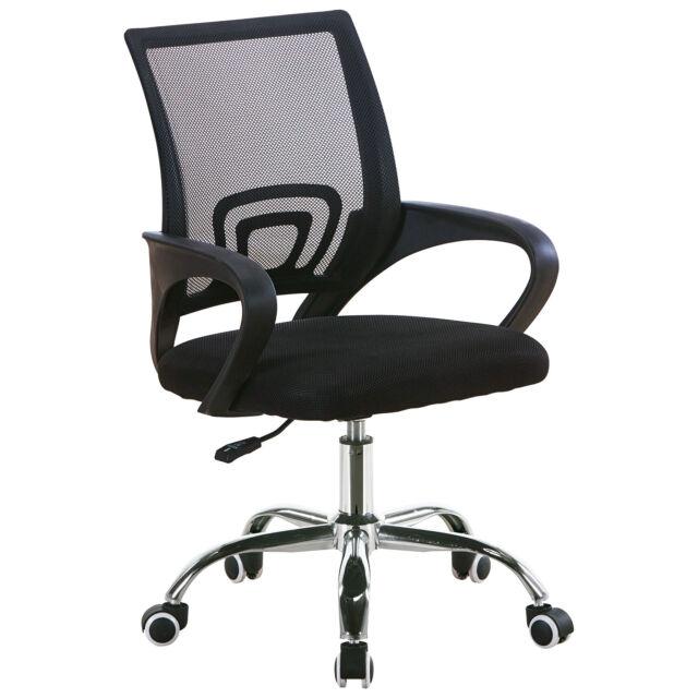 Chaise de Bureau avec Support Lombaire Fauteuil Siège Ergonomique - Noir