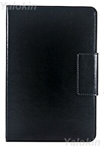 Details about Leather Black Rotating Stand Universal Folio Case Fits 9-10  inch Tablets