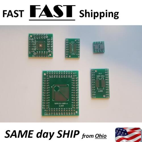 6x PCB Board Kit SMD To DIP Adapter Converter FQFP32-100 QFN48 SOP8 16 24 28