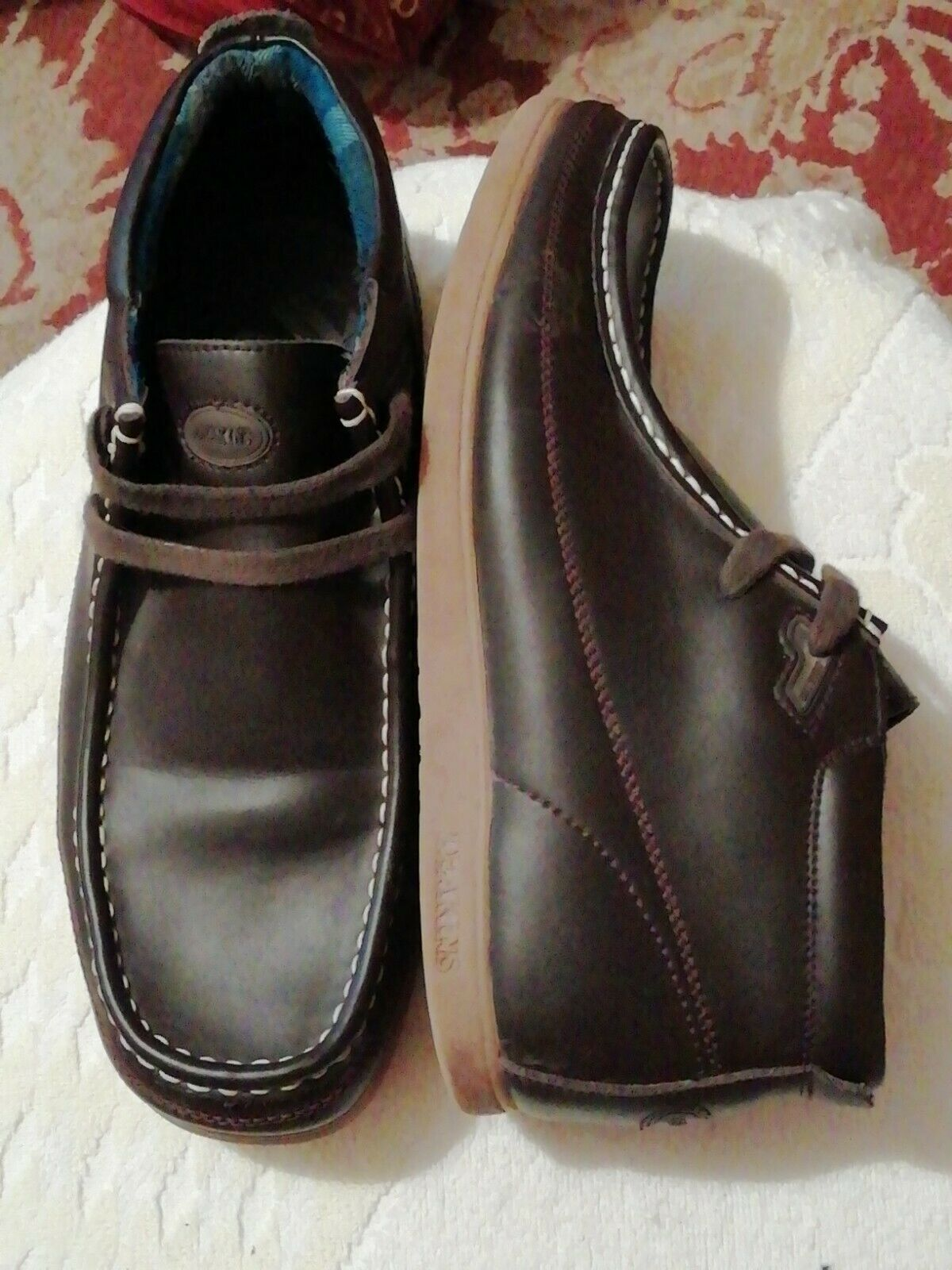 Mens-Casual Dark Tan Shoes(used) ,UK8. See Description.BUY THEM NOW. f