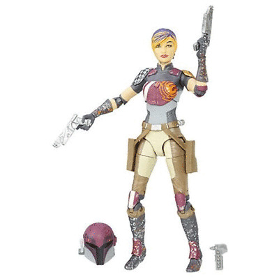 Star Wars Hasbro Sabine Wren Jet Pack Série Black Scale