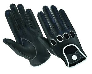 Mens-Classic-Retro-style-quality-Chauffeur-Soft-Lambskin-Leather-Driving-Gloves