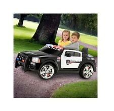 Kid Trax Dodge Pursuit Police Car 12Volt Battery Powered Ride On Smooth Surfaces
