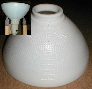 10quot opal glass diffuser for old antique floor lamp for Floor lamp reflector shade glass