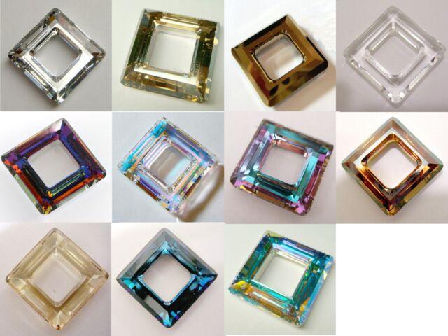 f0696227e4cc0 Genuine SWAROVSKI CRYSTAL #4439 SQUARE RING FRAME PENDANT ~ Many Color &  Size
