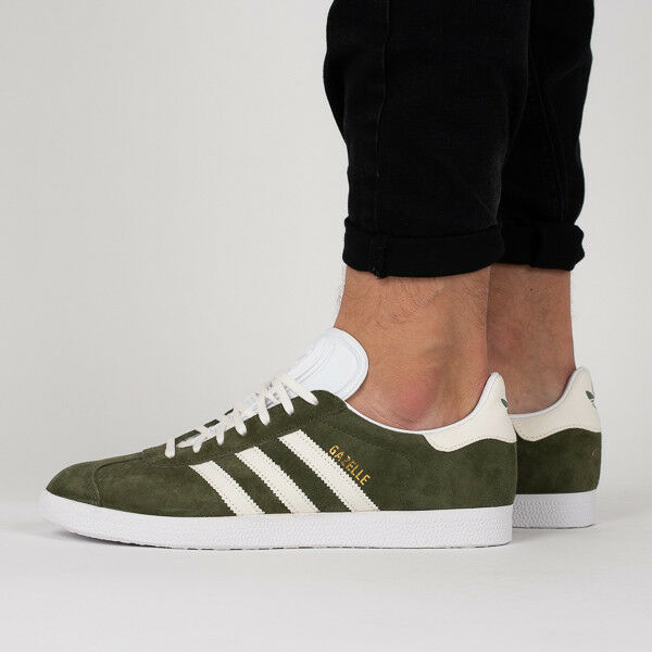 97e794a6c698 ... adidas Gazelle Mens Green off White Suede Canvas Trainers - 8 UK eBay  buying new ab9fd84fdc ...