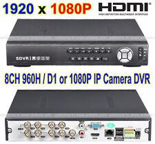 ALL D1 Recording H.264 1080P Full HD 8CH HDMI VGA Video Output Audio Input DVR