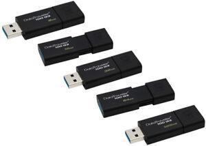 Kingston-256GB-128GB-64GB-32GB-16GB-DT-100-G3-Flash-USB-3-0-Drive-100MBs-OTG-Lot