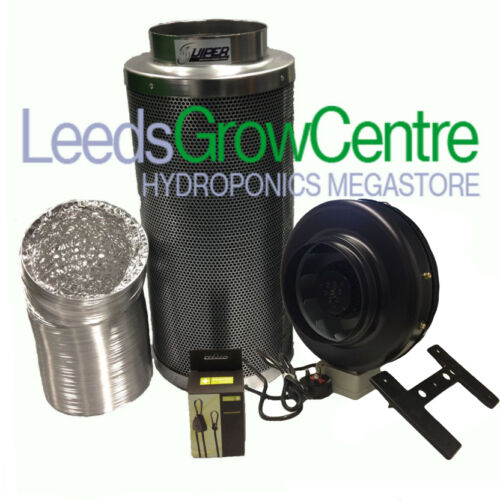 "8/"" HIGH POWER INLINE FAN,CARBON FILTER AND DUCTING KIT"