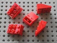 5 x LEGO red Slope Brick 33 3 x 2 Inverted 3747 / Set 5590 6542 8858 7727 6484..
