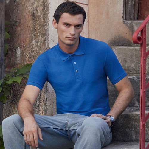 Short Sleeve Tee Fruit of The Loom 65-35 Men/'s Tailored Fit Polo 63-042-0