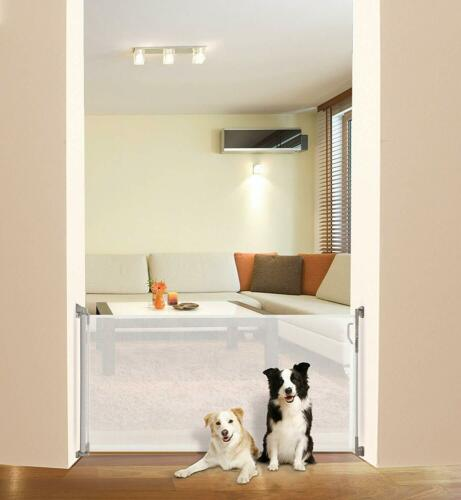 Baby /& Dog Pet Stair Gate 140 cm Dreambaby Retractable Mesh Safety Gate White