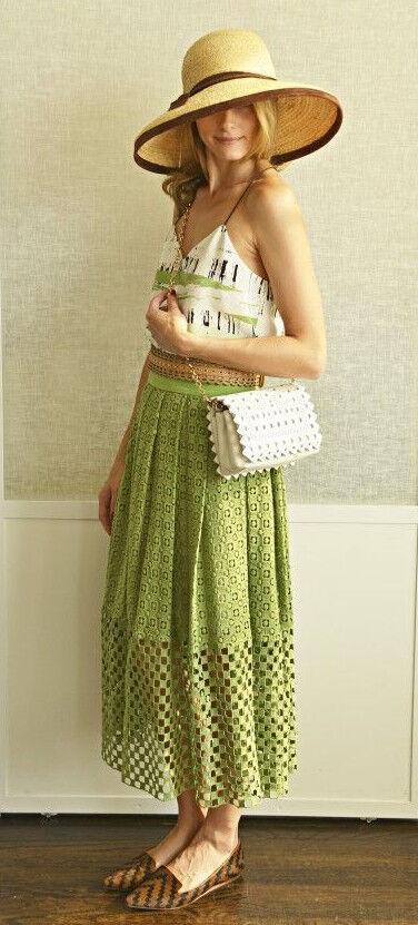 Olivia Palermo x Tibi Asphalt Stripe Print Silk Cami Größe 2
