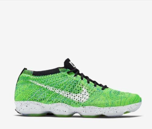Volt Nike Wmns 135 701 698616 blanco Flyknit 888409233300 Sz Agility Resplandor Zoom 7 verde Nib wUdgIxx