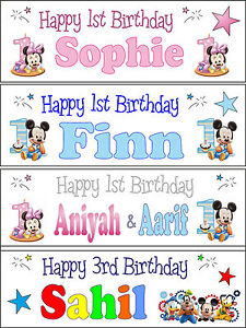 Personalised Mickey Minnie Mouse 1st 2nd 3rd 4th Baby Boy