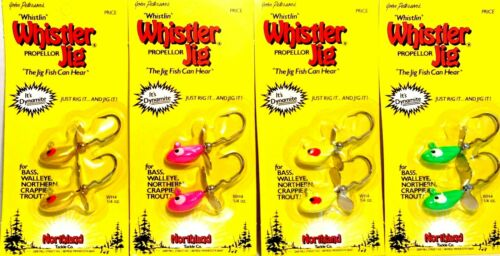 Choice of Color Northland 1//4 oz Whistler Jig Fishing Lures One Package