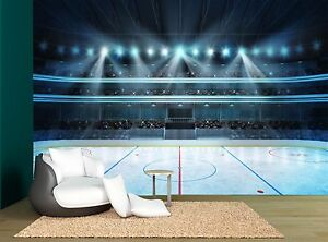 Ice Stadium Sport Ice Hockey Rink Wall Mural Photo Wallpaper GIANT
