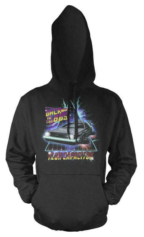Back To The 80s Lightening Sci-Fi Car Adult Hoodie