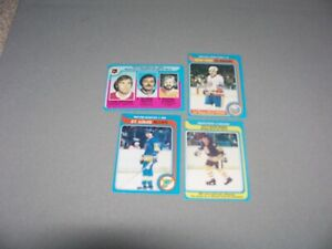 1979-80-O-Pee-Chee-NHL-Hockey-Cards-Lot-of-4-diff-incl-1-rookie-card-stars