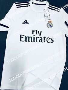 new arrival efed2 01e2b Details about Real Madrid Adidas 2018/2019 Original Home Soccer Jersey